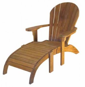 chaise longue jardin en teck